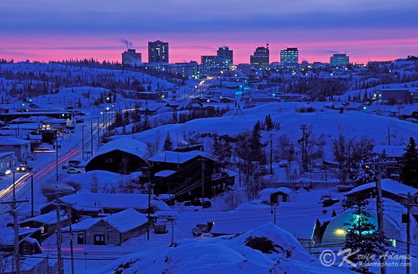 Cold winter's night in Yellowknife