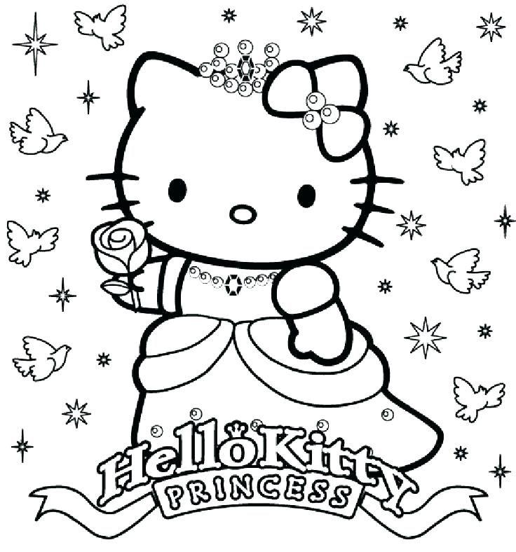 Hello Kitty Coloring Pages Valentines Day Halaman Mewarnai Bingkai Bunga Warna