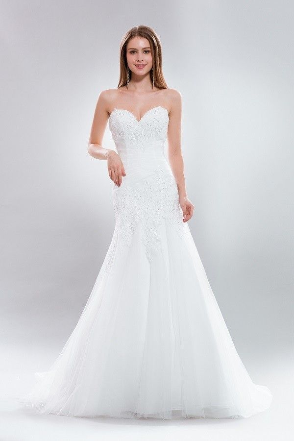 25 best ideas about strapless sweetheart neckline on for Princess mermaid wedding dresses