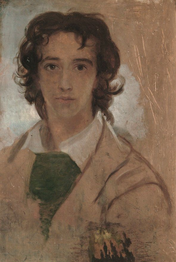 This #WattsWednesday we're sharing Watts's Self-Portrait aged Seventeen, c.1834. With open-collared bohemian costume and unkempt hair, teenage Watts appears like our idea of a Romantic genius. See Watts's Self Portrait on display in our historic galleries: ow.ly/LWAd30jr4yE