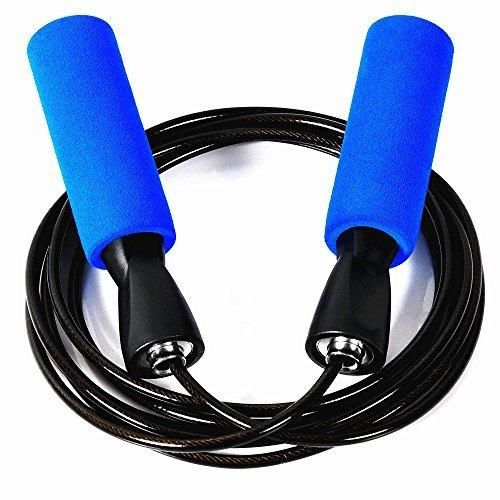 ZIYUE Jump Rope Premium Speed Rope for Crossfit WOD Boxing and Fitness (Blue - A)