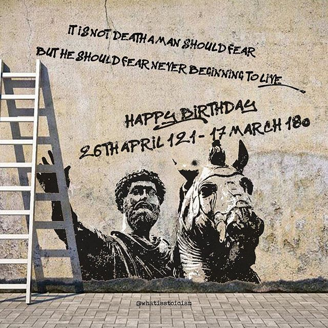 Happy Birthday To The Philosopher King Marcusaurelius Stoicism Instagram Marcus Aurelius Happy Birthday