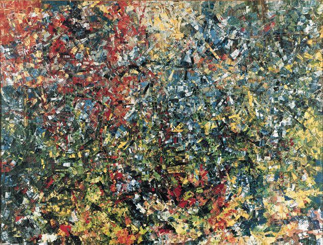 Jean Paul Riopelle, Chevreuse, 1954, huile sur toile, 300 x 390 cm