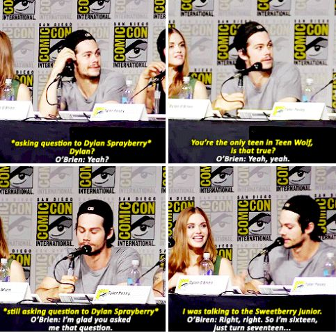 teen wolf - dylan o´brien - comic con 2015