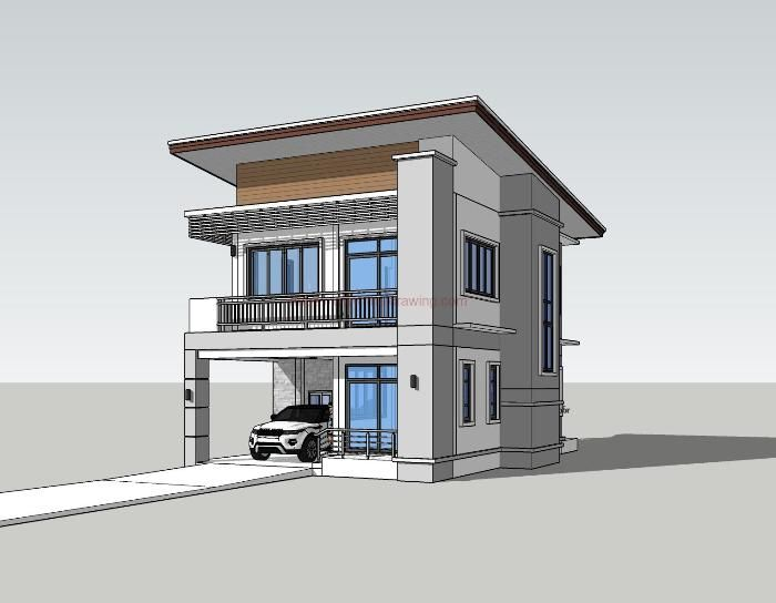 Compact Three Bedroom Double Storey House Design For A Small Lot Pinoy House Plans Double Storey House Double Storey House Plans Model House Plan