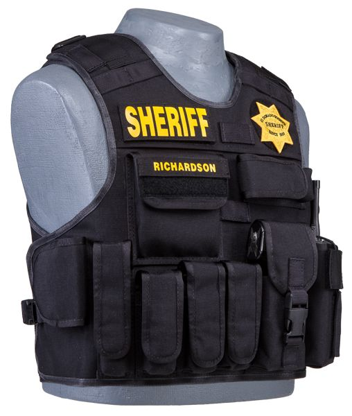 Armor Carrier Black Right Front Police Tactical Vest