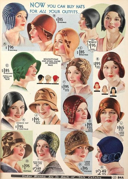 Extremely fancy and marvelous hats - and the prettiest pink-cheeked ladies!