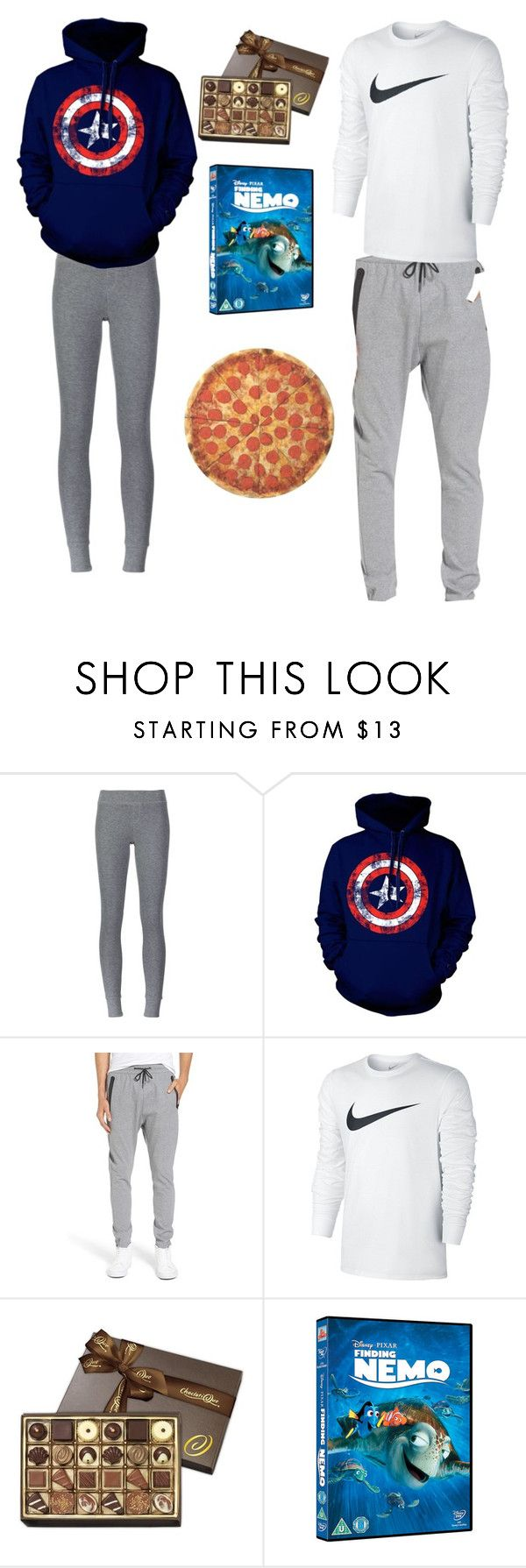 """Your boyfriend cuddling you because you started"" by cecily-gravesen ❤ liked on Polyvore featuring ATM by Anthony Thomas Melillo, Zanerobe, NIKE and Round Towel Co."