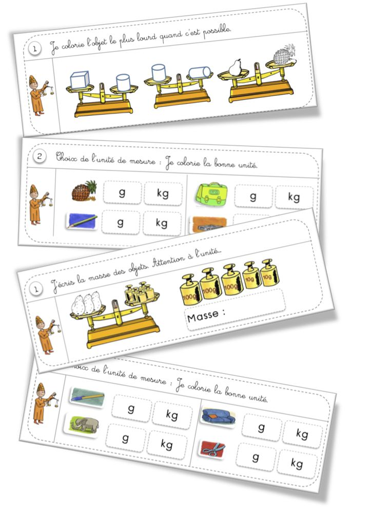 Rituels exercices : Mesure : les masses
