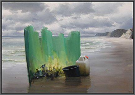 Poul Anker Bech. Grønne drømme på en strand