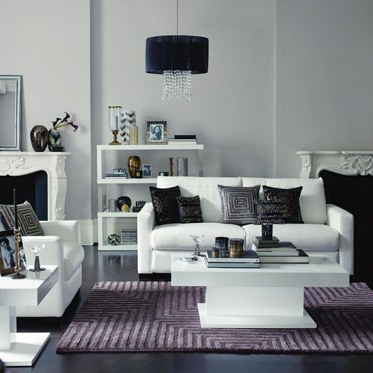 183 best Living room images on Pinterest Architecture, Home and - purple and grey living room