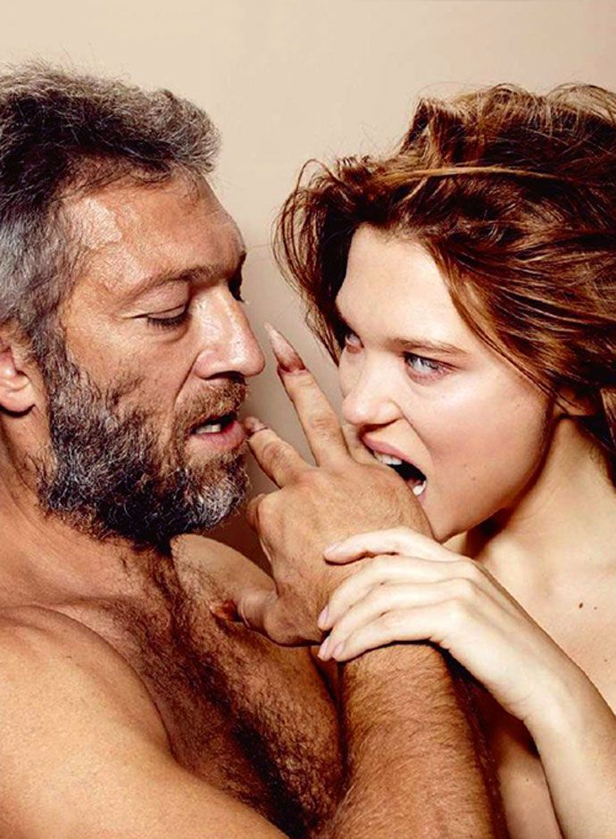Lea Seydoux and Vincent Cassel as 'Beauty and the Beast'