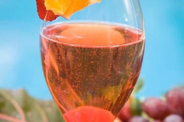 Seriously a-mazing pink champagne cocktail!
