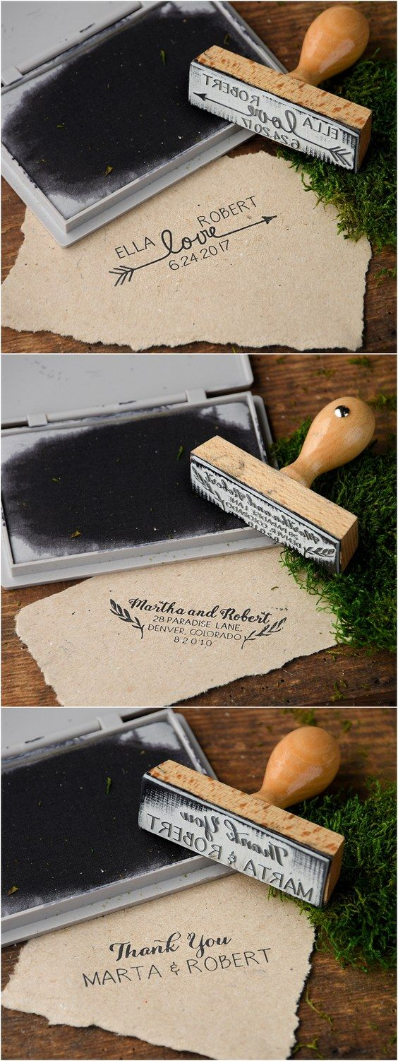 Rustic country wood wedding stamps #countrywedding #rusticwedding