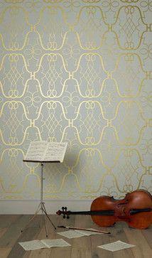 Lombardia Wallpapers Stradivari - eclectic - wallpaper - other metro - Osborne & Little. In the merch mart.