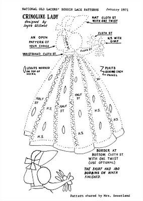 Crinoline Lady bobbin pattern