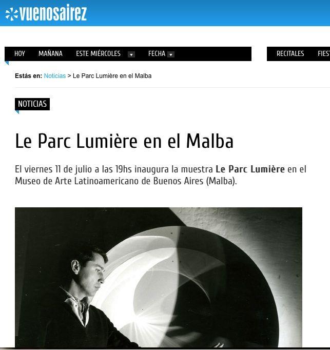 Vuenos aires:   http://www.vuenosairez.com/noticias/le-parc-lumière-en-el-malba/534