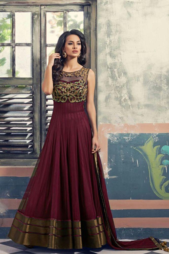 New & Hot !! US Indian Pakistani Suit Bollywood Designer Dress Salwar Kameez. #HeenaFashion #AnarkaliStyle