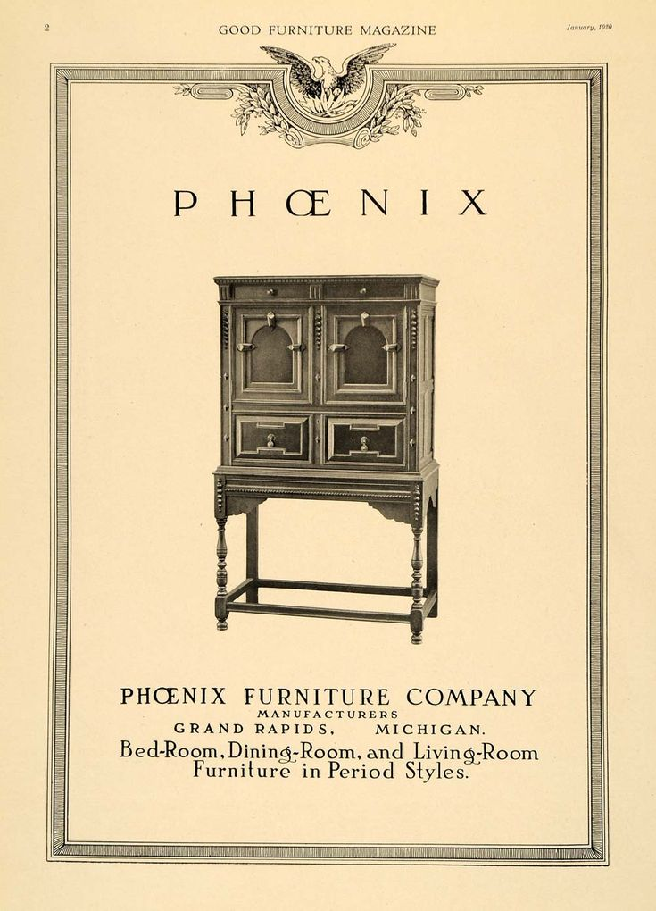 Pheonix Furniure Advertisement in The Good Furniture Magazine circa  1920. 15 best Grand Rapids Made images on Pinterest
