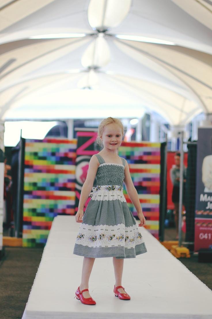 Victoria ..... Cotton smocked dress @ the Sydney family show   www.elfinkidz.com