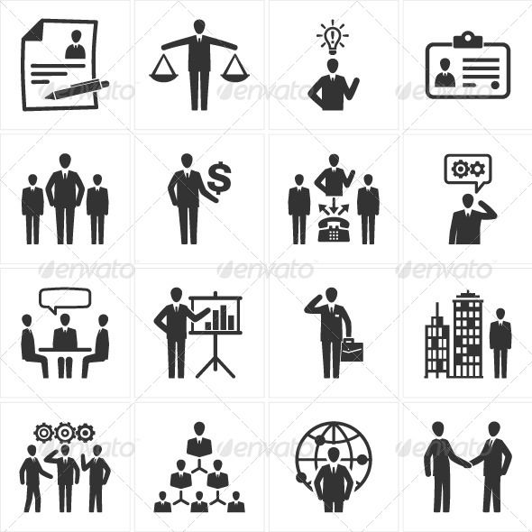 Management and Human Resource Icons - Business #Icons Download here: https://graphicriver.net/item/management-and-human-resource-icons/2535265?ref=alena994