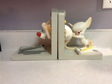 Warner Brothers 1996 Animaniacs Pinky And The Brain Bookends Exclusive 1996