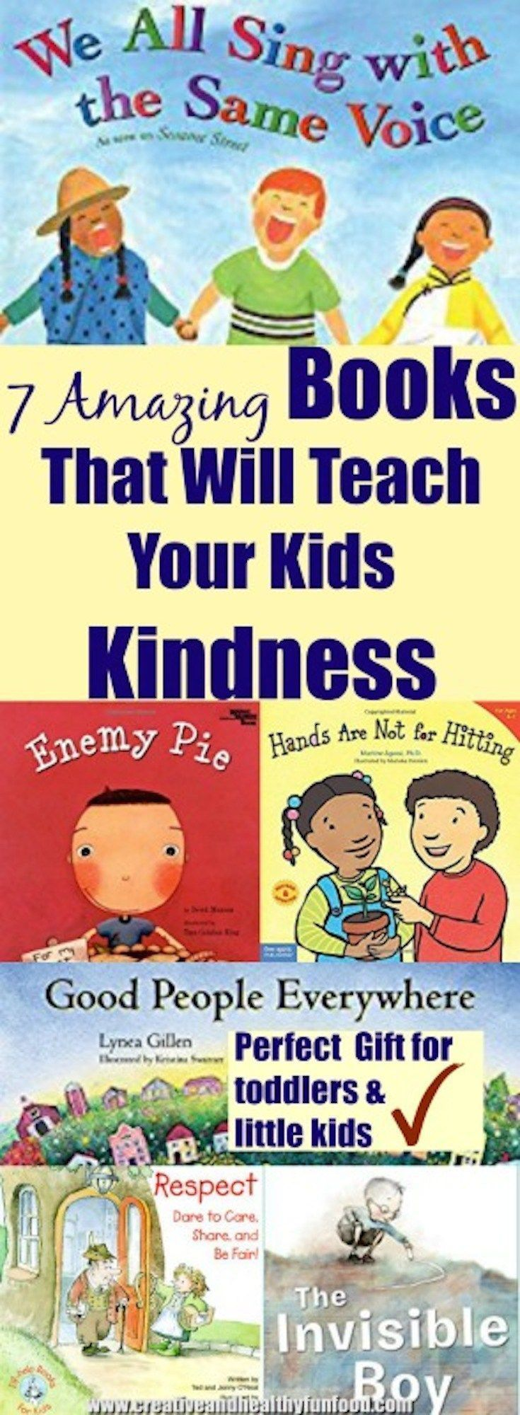 7 Amazing Books That Will Teach Your Kids Kindness #kindness #parenting #books