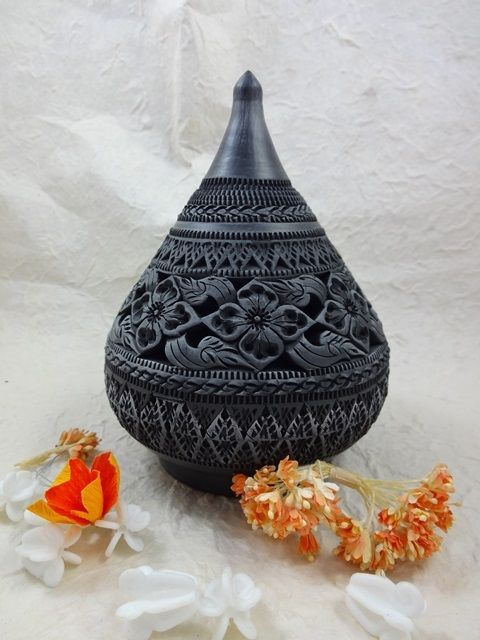 New Thai decorative hand craft carving pottery earthenware OTOP certified M#4