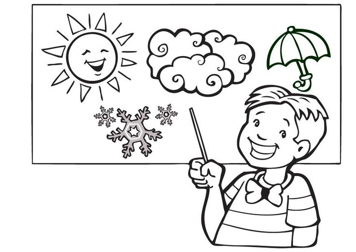 Educational Coloring Pages Pdf : Weather coloring pages printable google search