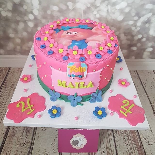 Poppy Trolls Cake Kids Birthday Ideas Pinterest Cake