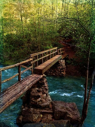 Laurel Falls Bridge - Tennessee <3