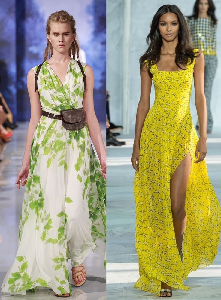 Журналы моды летние платья
