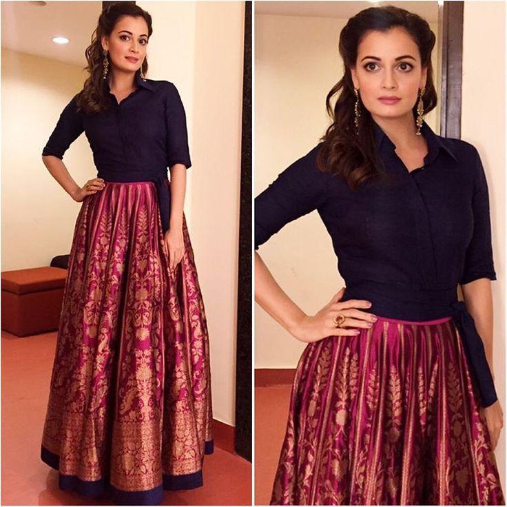 afashionistasdiaries @diamirzaofficial Outfit - @payalkhandwala Styled by - @theiatekchandaney #bollywood #style #fashion #beauty #bollywoodstyle #bollywoodfashion #indianfashion #celebstyle #diamirza #payalkhandwala