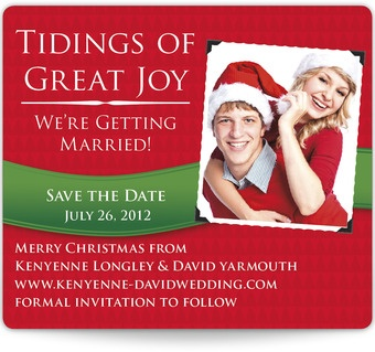 christmas save the date ideas