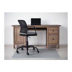 HEMNES Desk - grey-brown - IKEA
