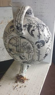 Recycled, Up-cycled, teapot Bird Feeder,