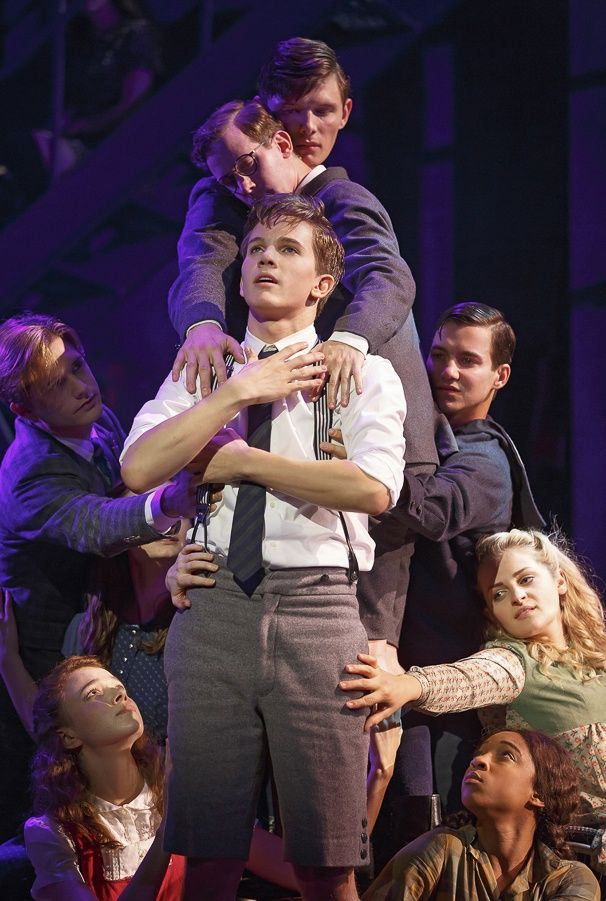 Photo 1 of 14 | Austin McKenzie as Melchior and the cast of Spring Awakening | Spring Awakening: Show Photos | Broadway.com