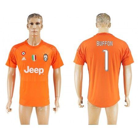 Juventus 16-17 #Buffon 1 Orange målmand Hjemmebanetrøje Kort ærmer,208,58KR,shirtshopservice@gmail.com