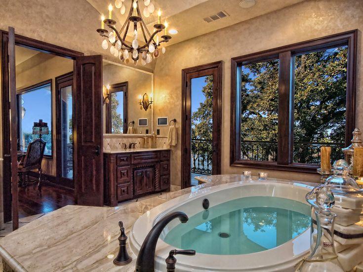 luxury mediterranean bathrooms | Bathrooms-Horseshoe-Bay-Mediterranean-Style-Master-Bath-by-Zbranek ...