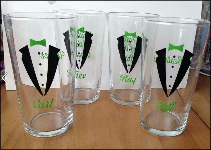 Personlised pint glasses - wedding party/ stag do