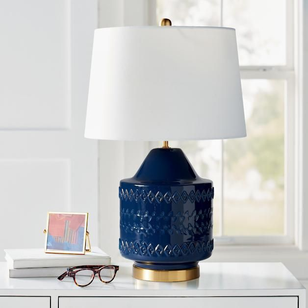 Wexler Table Lamp Was 149 00sale 119 20 15 Dia X 24 H Overall 7 Lbs Shade 15 Dia X 10 H Tribal Patterning Adds Tex In 2020 Table Lamp Lamp Novelty Lamp