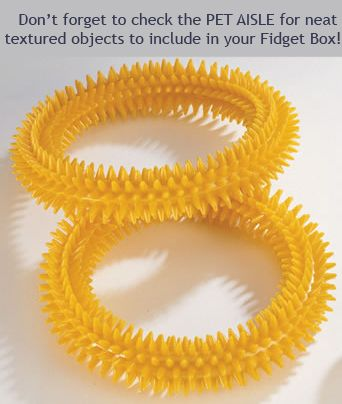 Love this website for inexpensive and effective ideas for classroom fidgets - since we're not sure which one will be most attractive to our daughter - cheap is good for now.