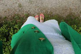 Lemon Designed: green blazer outfit
