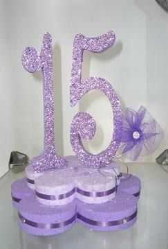 centro de mesa candelabro 15 años
