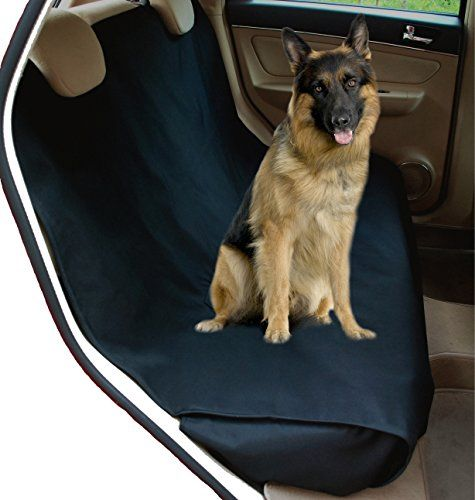 NACandZAC Waterproof Bench Pet Seat Cover For Cars And SUV With Anchors Nonslip Extra Side Flaps Machine Washable Barrier Dog