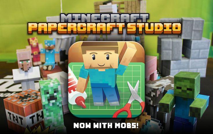 Mojang Minecraft Papercraft Studio app