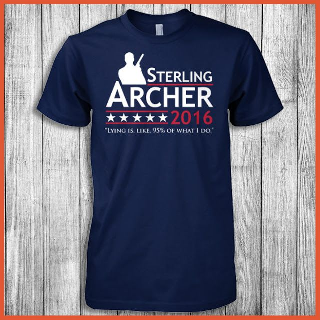 "Sterling Archer 2016 Lying Is, Like, 95% Of What I Do (""Archer"" Training Day) Shirt"