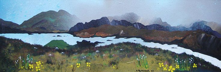 Over Loch Seaforth, Isle of Harris, painting by Andrew Peutherer