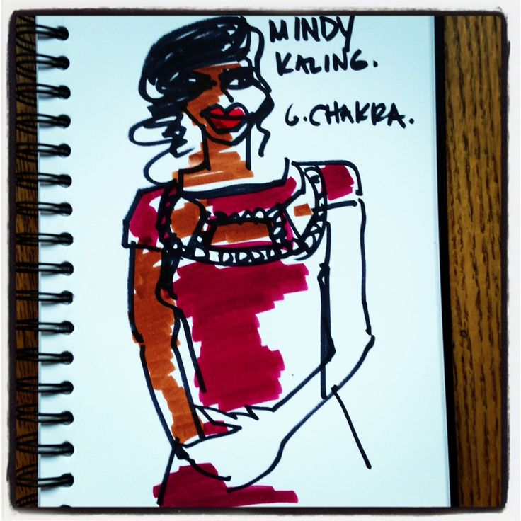 Mindy Kaling in George Chakra, 2013 Emmys.