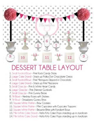 Perfect For Setting Up A Dessert Table Desserttable